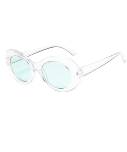 CURT GLITTER SUNGLASSES (WHITE_GREEN)