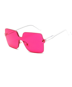SQUARE SUNGLASSES (PINK)