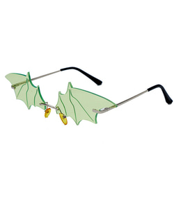 BAT SUNGLASSES (GREEN)