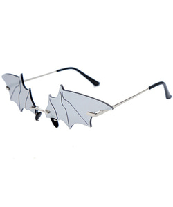 BAT SUNGLASSES (SILVER)